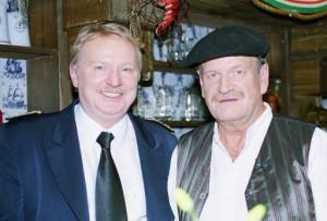 """Vossi und Günter Willumeit in """"Lüders Krug"""", Freut Euch des Nordens 1992"""