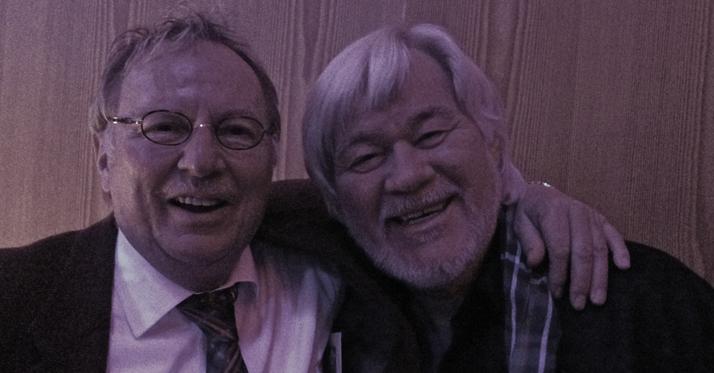 Vossi mit Peter Petrel auf der Come Together Party im Apri 2014 in Nahe